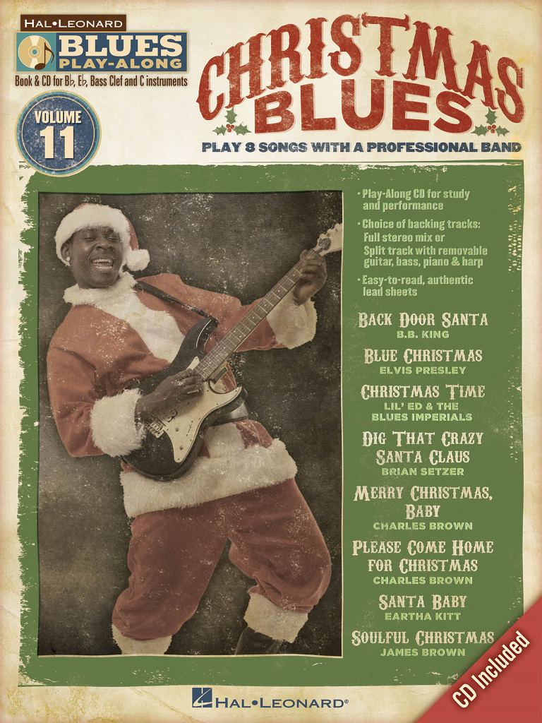 christmas blues play along instructional book cd - Blues Christmas Songs
