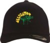 Alligator Records Logo Hat: Black Fitted