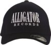 Alligator Records Letter Hat: Black Fitted
