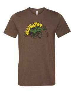 Alligator Full Color Classic Tee - HEATHER BROWN