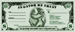 Alligator Records Gift Certificate $100