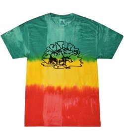 Alligator Tie-Dye GREEN, YELLOW & RED T-Shirt